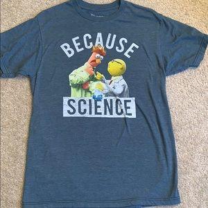 Disney Muppets Men's Med Because Science t-shirt